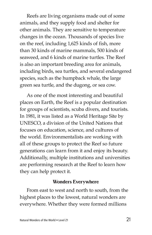 Book Preview For Natural Wonders of the World Page 21