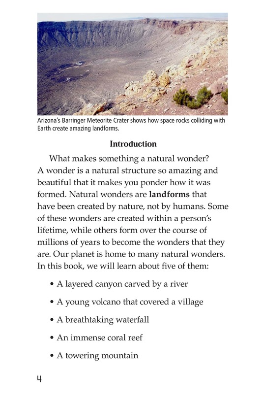 Book Preview For Natural Wonders of the World Page 4
