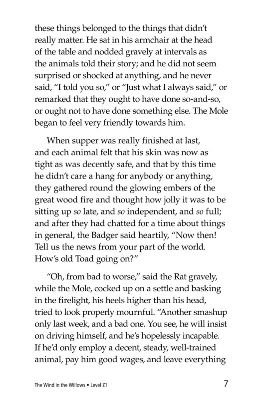 Book Preview For The Wind in the Willows (Part 4) Page 7