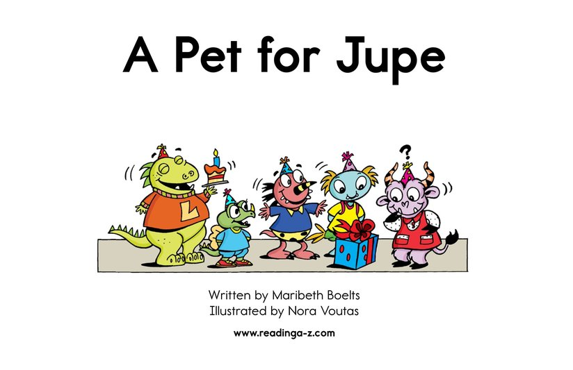 Book Preview For A Pet for Jupe Page 2