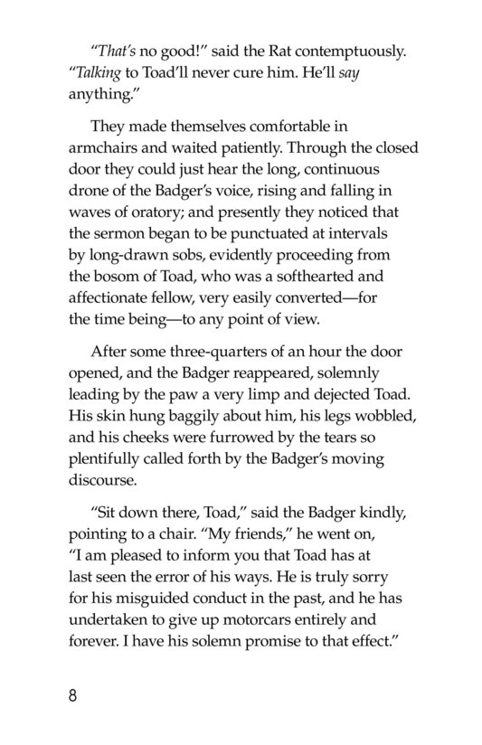 Book Preview For The Wind in the Willows (Part 6) Page 8