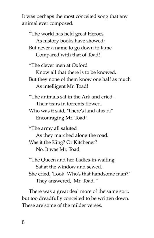 Book Preview For The Wind in the Willows (Part 12) Page 8