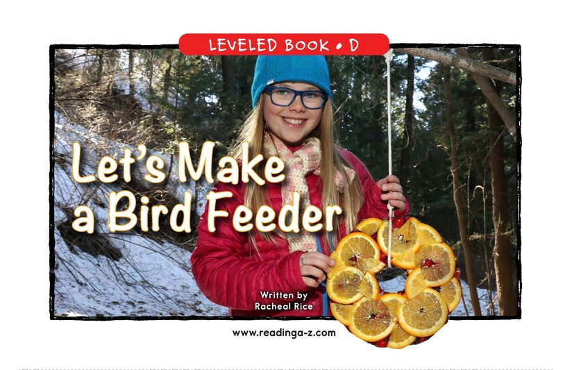 Book Preview For Let's Make a Bird Feeder Page 0