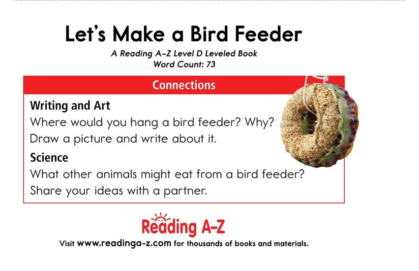 Book Preview For Let's Make a Bird Feeder Page 13