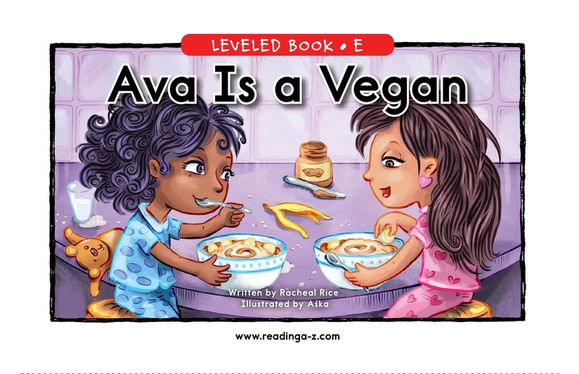 Book Preview For Ava Is a Vegan Page 0