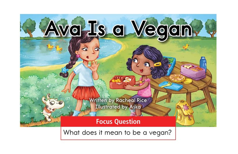 Book Preview For Ava Is a Vegan Page 1