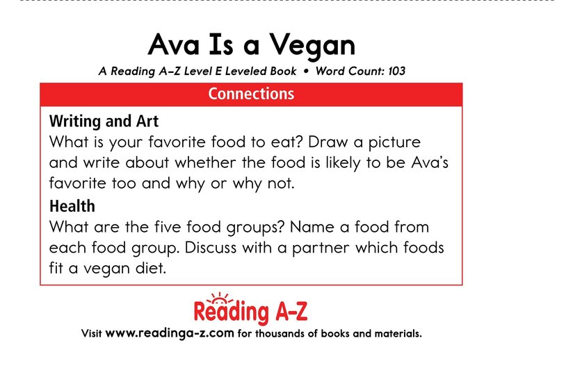 Book Preview For Ava Is a Vegan Page 13
