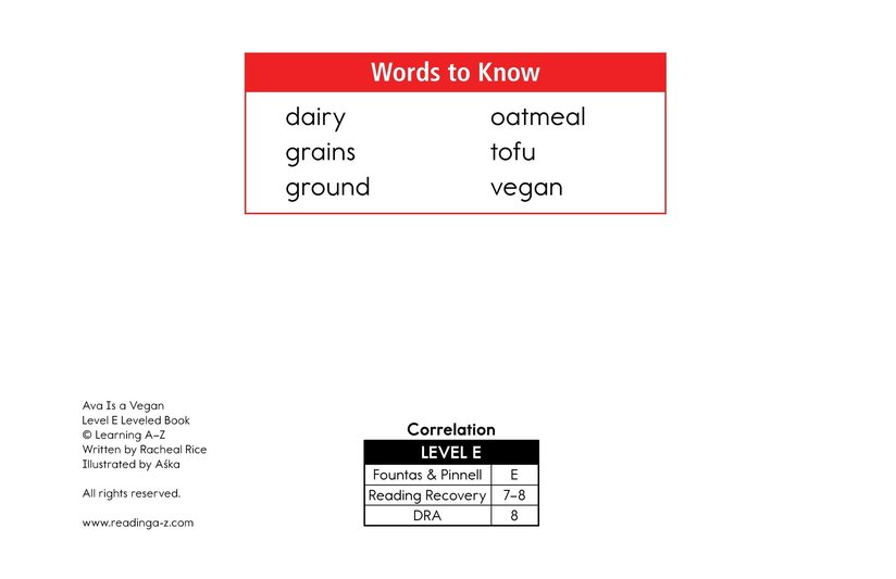 Book Preview For Ava Is a Vegan Page 2
