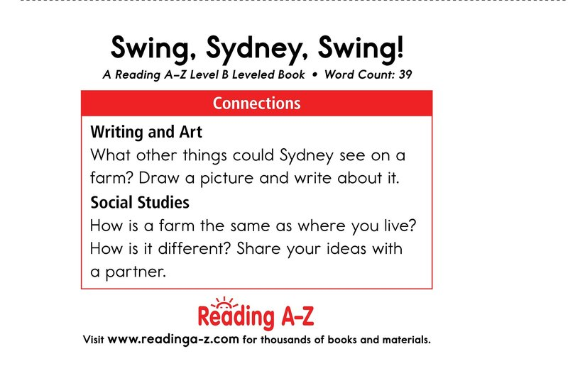 Book Preview For Swing, Sydney, Swing! Page 11