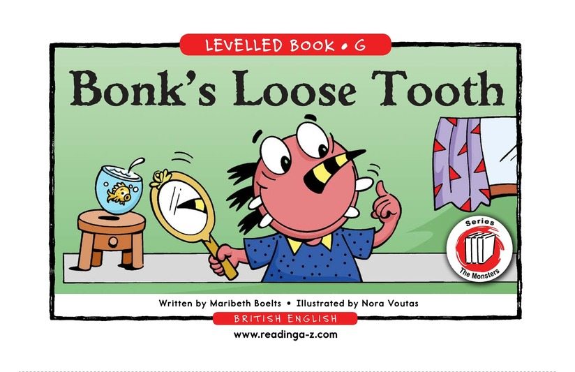 Book Preview For Bonk's Loose Tooth Page 1