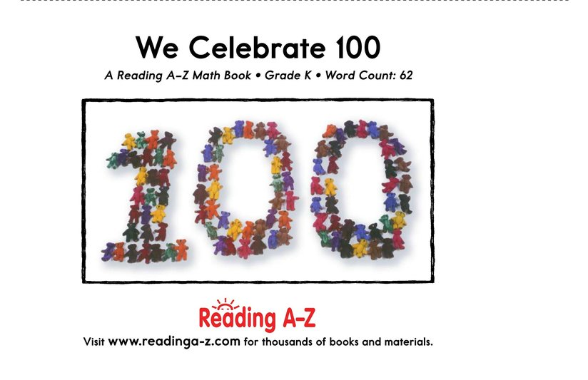 Book Preview For We Celebrate 100 Page 13