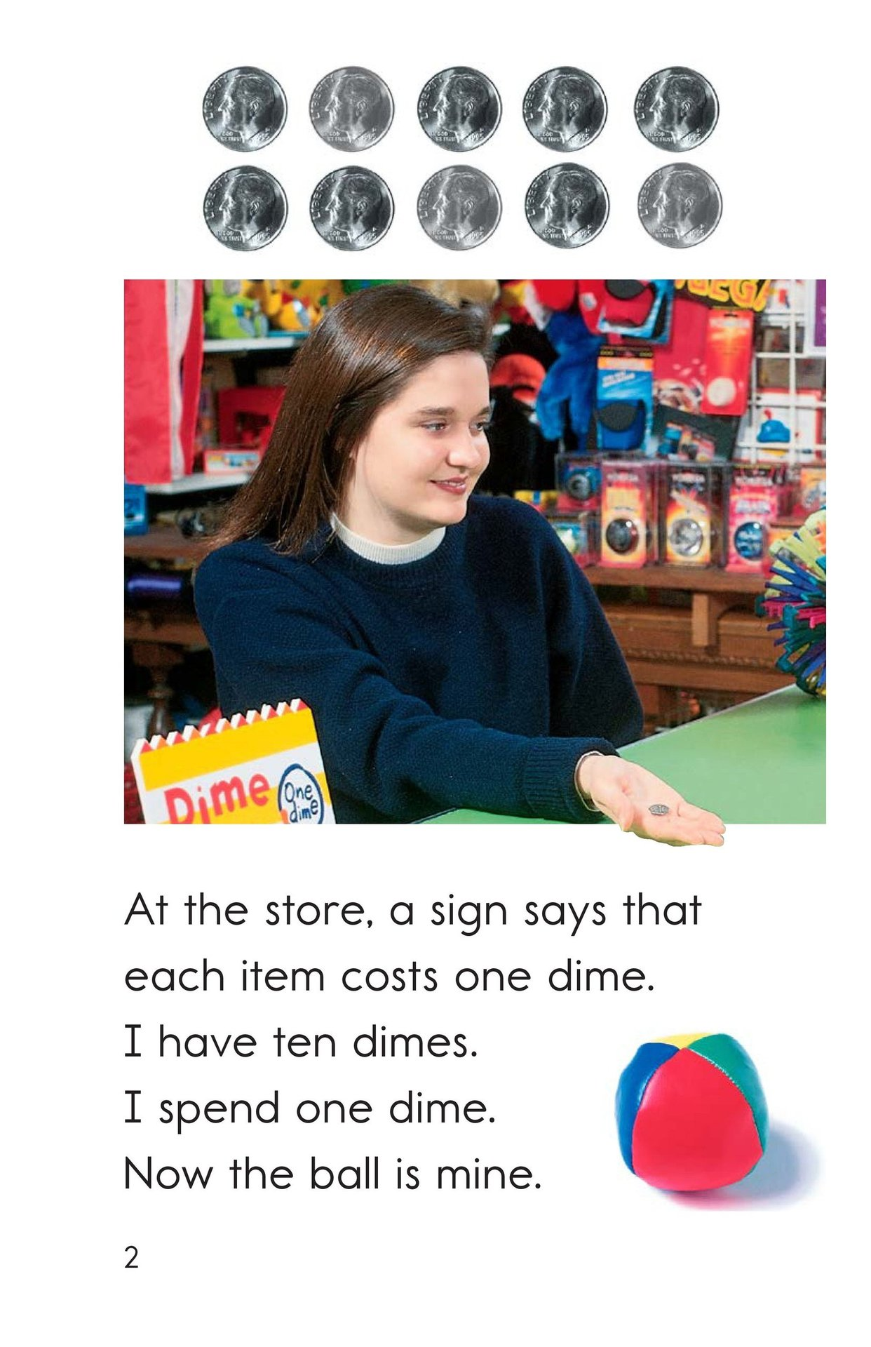 Book Preview For Spending Dimes One at a Time Page 2
