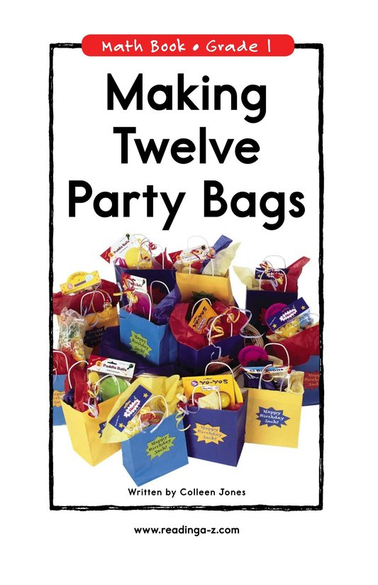 Book Preview For Making Twelve Party Bags Page 0