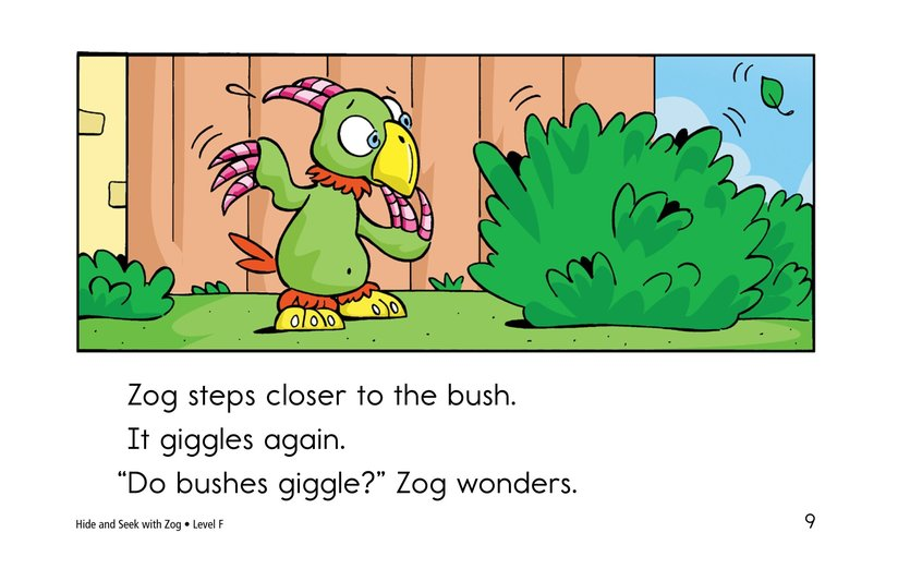 Book Preview For Hide and Seek with Zog Page 9