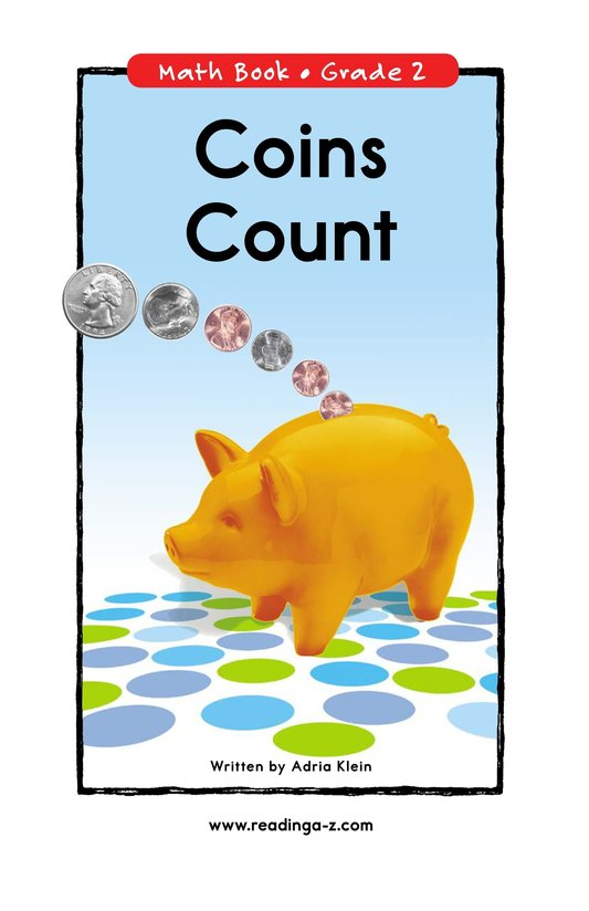 Book Preview For Coins Count Page 1