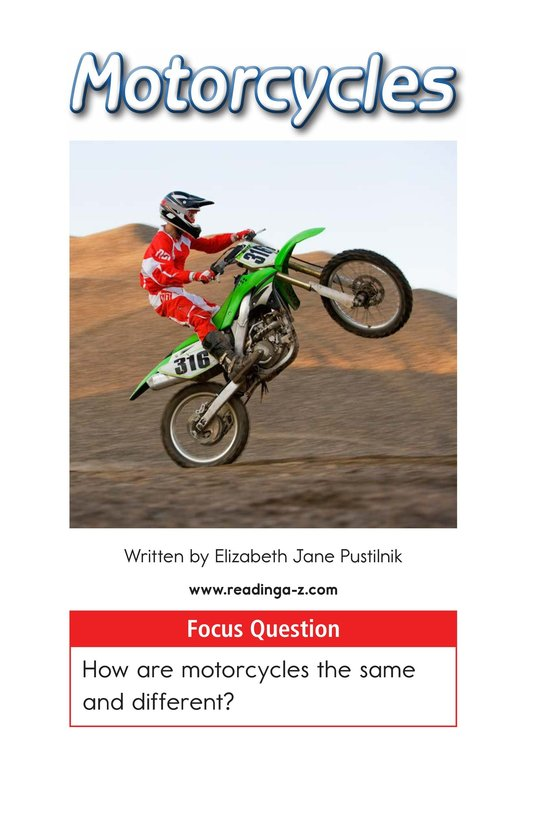 Book Preview For Motorcycles Page 1