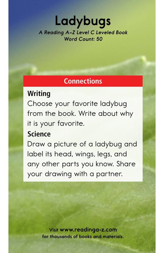 Book Preview For Ladybugs Page 11