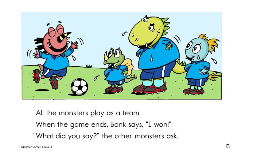 Book Preview For Monster Soccer Page 13