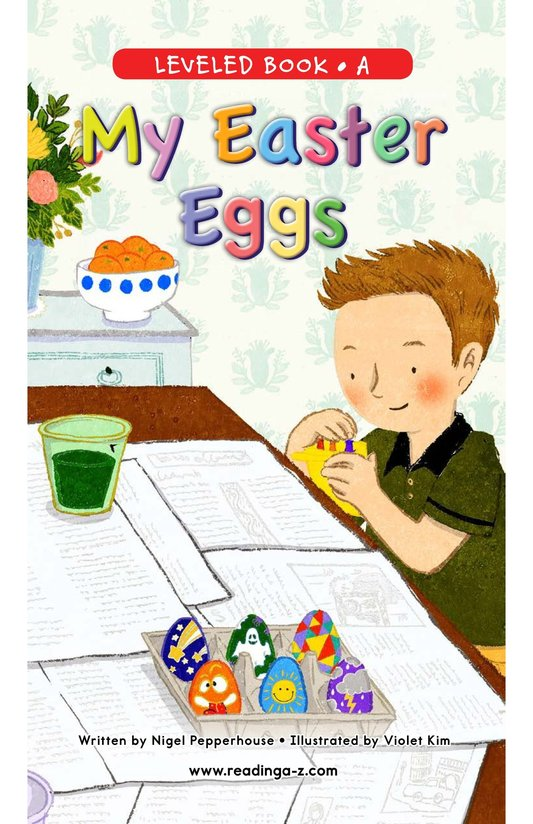 Book Preview For My Easter Eggs Page 0