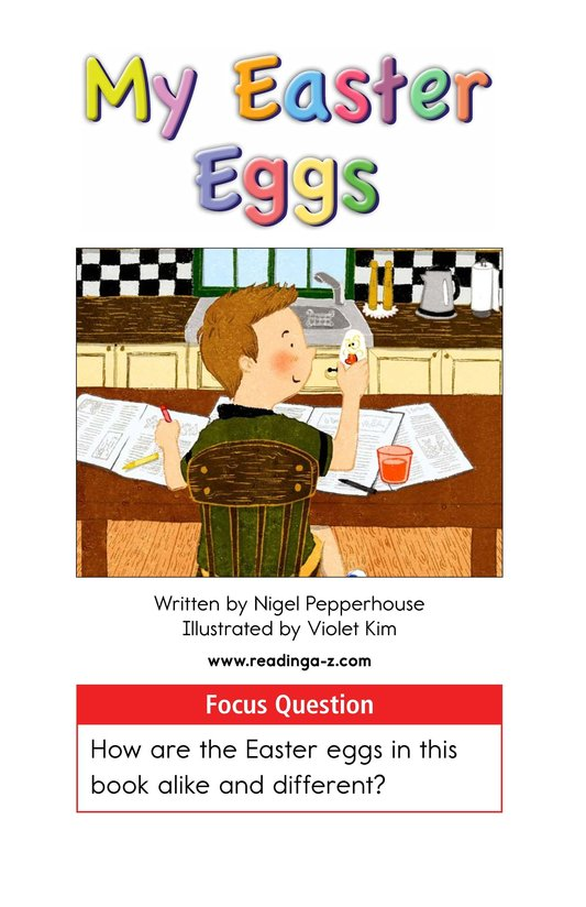 Book Preview For My Easter Eggs Page 1