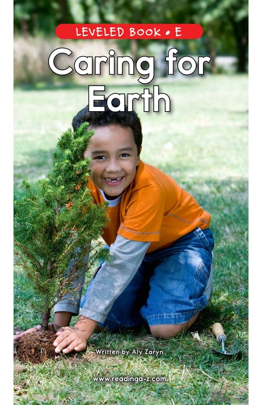 Book Preview For Caring For Earth Page 0