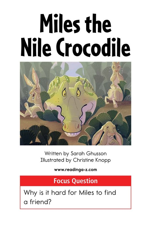 Book Preview For Miles the Nile Crocodile Page 1