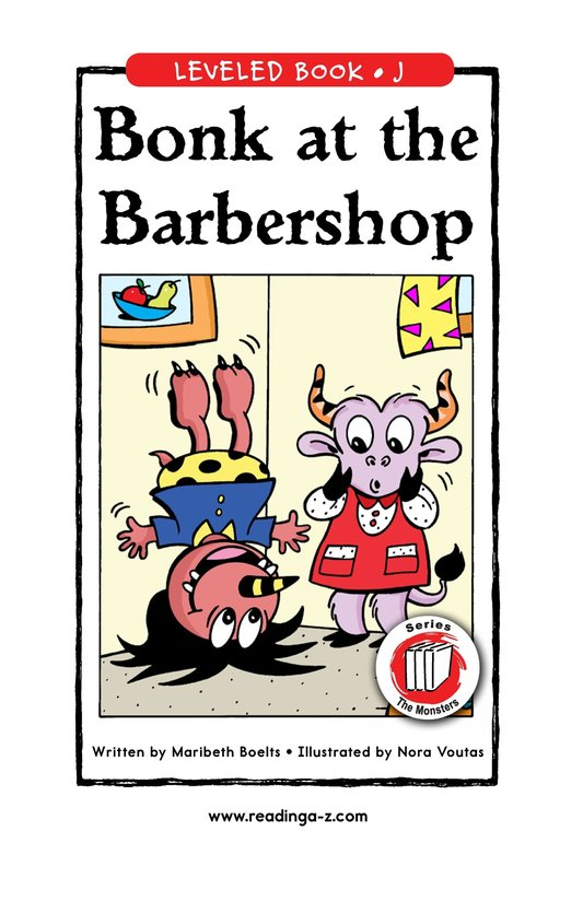 Book Preview For Bonk at the Barbershop Page 1