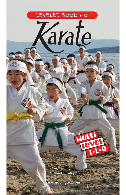 Book Preview For Karate Page 0