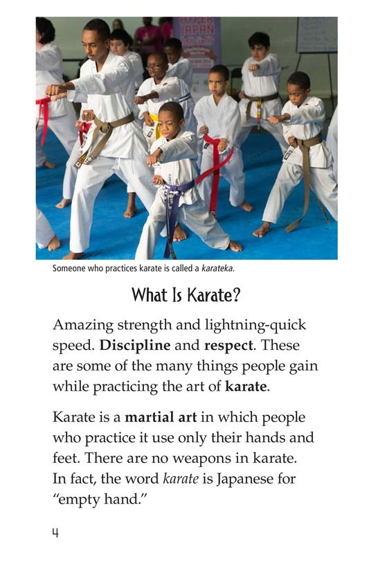 Book Preview For Karate Page 4