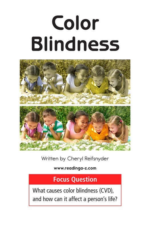 Book Preview For Color Blindness Page 1