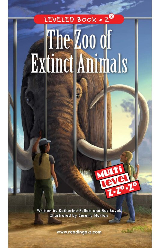 Book Preview For The Zoo of Extinct Animals Page 0