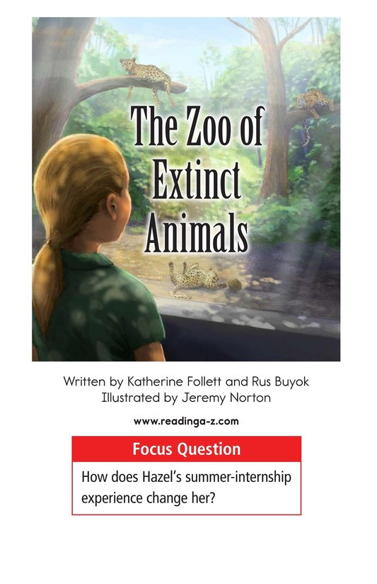 Book Preview For The Zoo of Extinct Animals Page 1