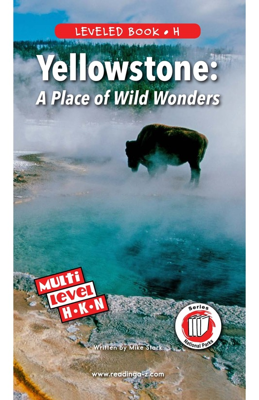 Book Preview For Yellowstone: A Place of Wild Wonders Page 0
