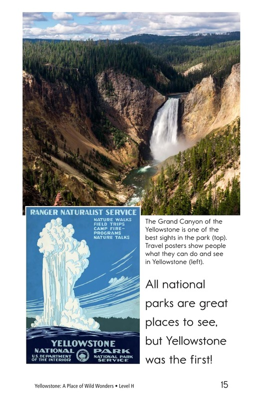 Book Preview For Yellowstone: A Place of Wild Wonders Page 15