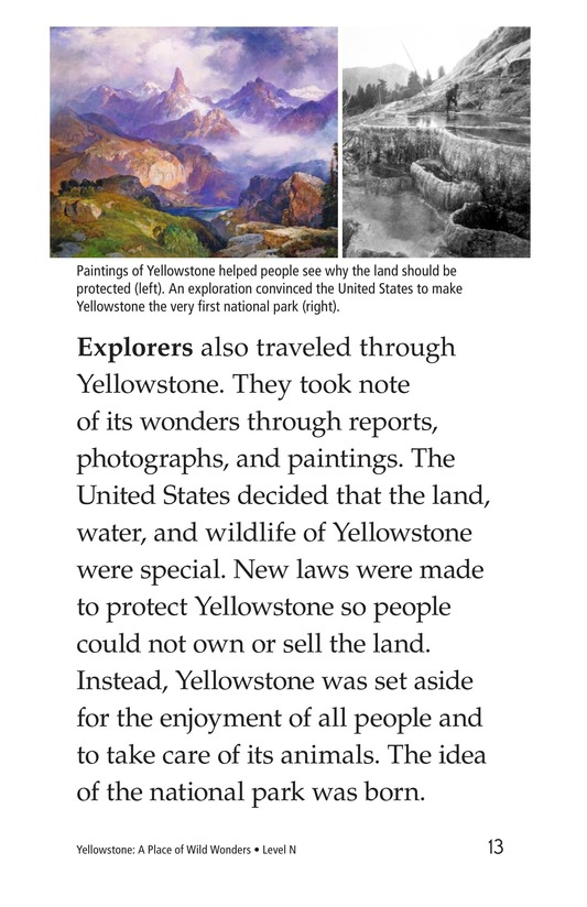 Book Preview For Yellowstone: A Place of Wild Wonders Page 13