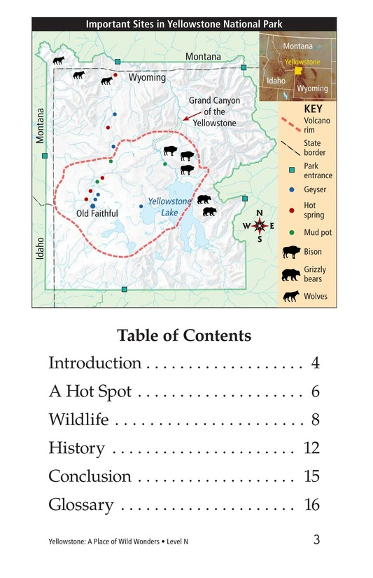 Book Preview For Yellowstone: A Place of Wild Wonders Page 3