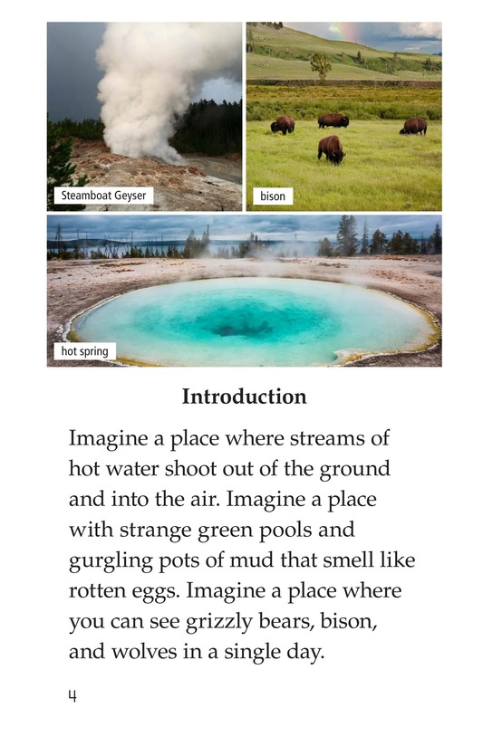 Book Preview For Yellowstone: A Place of Wild Wonders Page 4