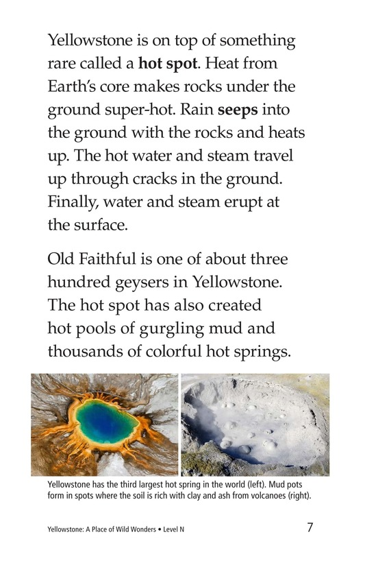 Book Preview For Yellowstone: A Place of Wild Wonders Page 7