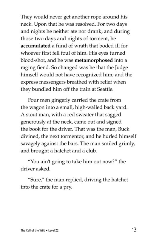Book Preview For The Call of the Wild (Part 1) Page 13