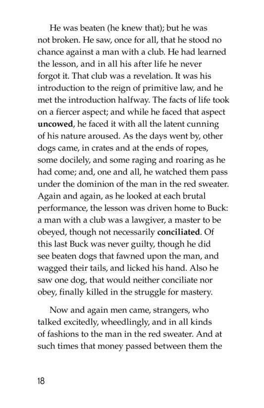 Book Preview For The Call of the Wild (Part 1) Page 18