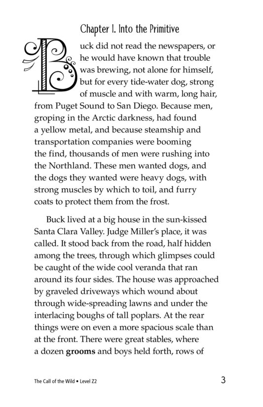 Book Preview For The Call of the Wild (Part 1) Page 3