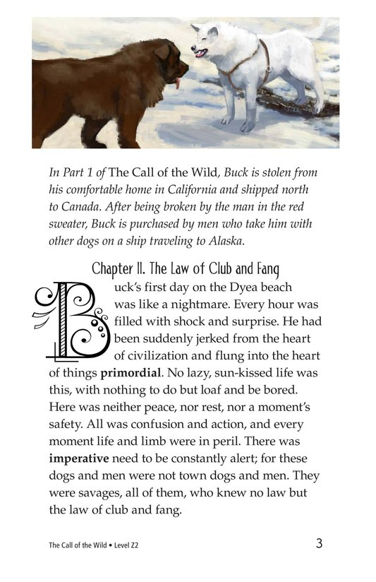 Book Preview For The Call of the Wild (Part 2) Page 3