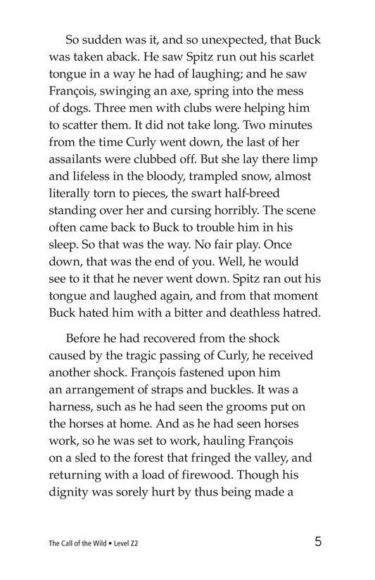 Book Preview For The Call of the Wild (Part 2) Page 5