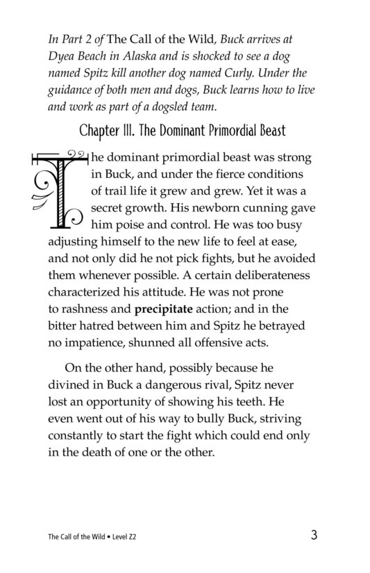 Book Preview For The Call of the Wild (Part 3) Page 3