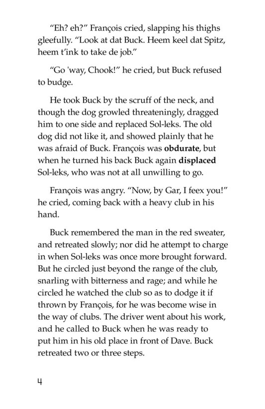 Book Preview For The Call of the Wild (Part 5) Page 4