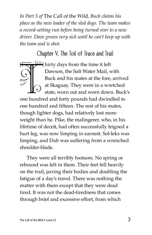 Book Preview For The Call of the Wild (Part 6) Page 3