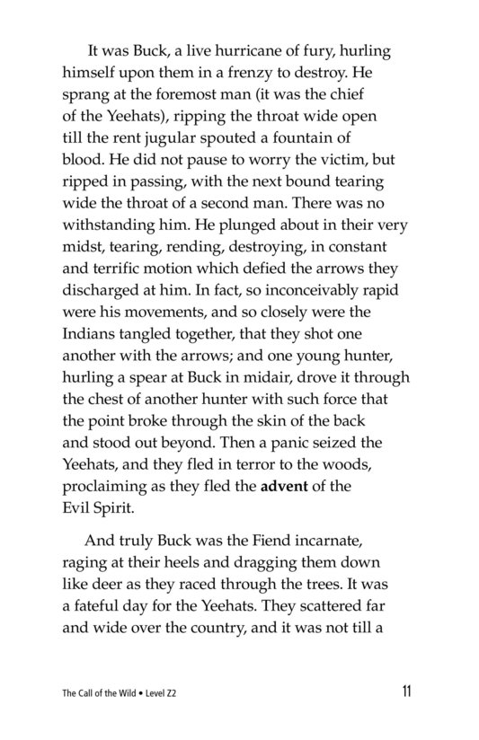 Book Preview For The Call of the Wild (Part 10) Page 11
