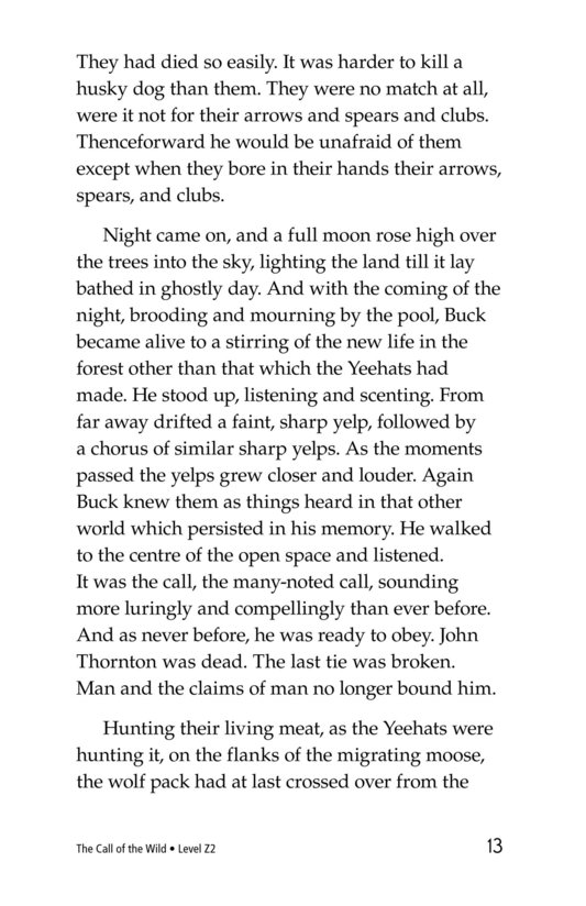 Book Preview For The Call of the Wild (Part 10) Page 13