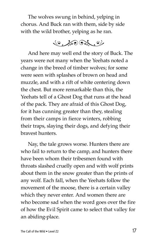 Book Preview For The Call of the Wild (Part 10) Page 17