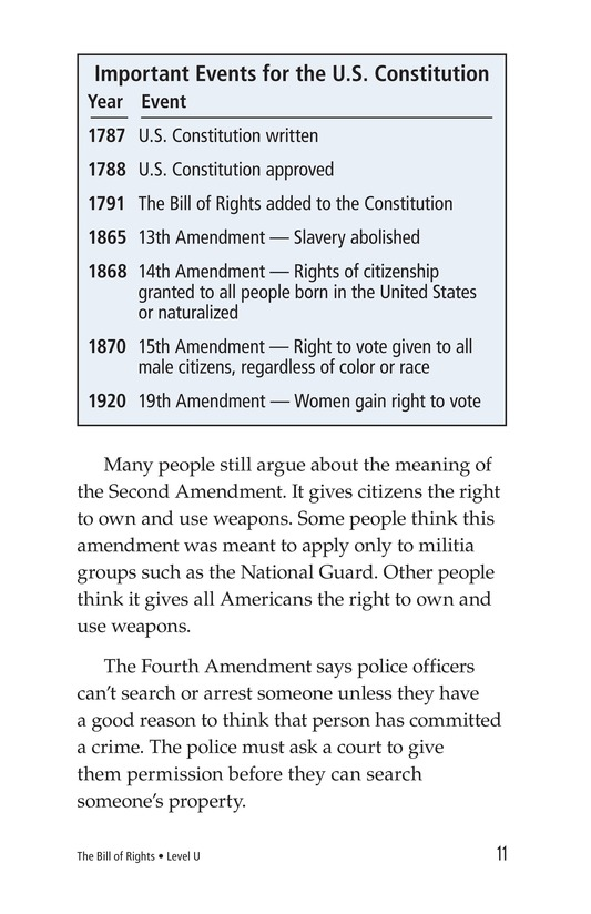 Book Preview For The Bill of Rights Page 11